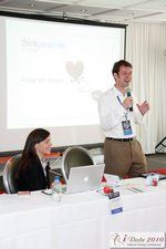 Frederick Vallaeys and Kate Keene at the Google Session Internet Dating Conference Los Angeles iDate 2010