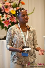 Robinne Burrell (Vice President at Match.com) at the June 22-24, 2011 Dating Industry Conference in L.A.