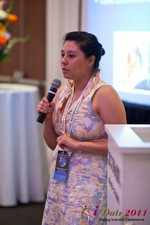 Monica Ohara (Director of Marketing at SpeedDate) at the June 22-24, 2011 L.A. Internet and Mobile Dating Industry Conference