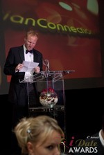 Dan Winchester reading on behalf of ChristianConnection.co.uk, winner of Best Niche Dating Site at the 2013 iDateAwards Ceremony in Las Vegas