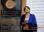Pauline Tourneur General Manager Of Attractive World Speaking On The French Online And Mobile Dating Market  at the 12th annual E.U. iDate conference matchmakers and online dating professionals in London